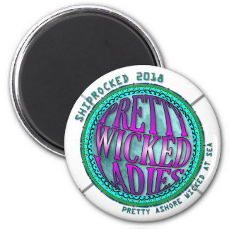 Pretty Wicked Ladies Compass Magnet