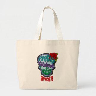 Pretty Wicked Sugar Skull Large Tote Bag