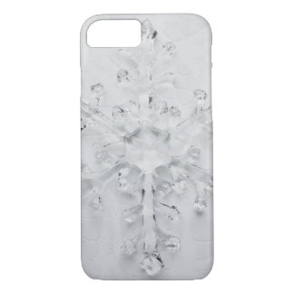 """Pretty """"Winter Wonderland"""" Snowflake and Lace iPhone 8/7 Case"""