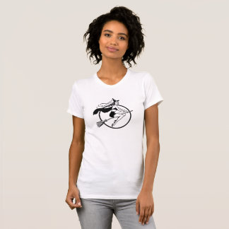 Pretty Witch on Her Broom T-Shirt