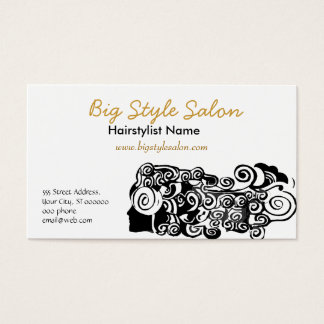 Pretty Woman with Long Hair Business Card