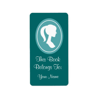 Pretty Womens Silhouette Bookplates Stickers Gift