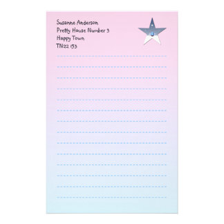 Pretty Writing Paper for Children Customized Stationery