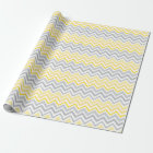 Pretty Yellow and Grey Chevron Wrapping Paper