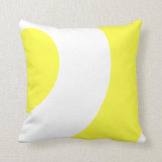 Pretty Yellow and white Throw Pillow