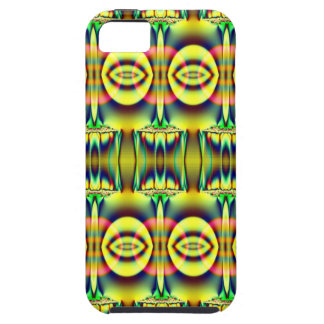 Pretty yellow blue circle abstract iPhone 5 case