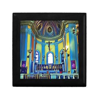 Pretty Yellow Blue Vibrant Church Altar Gift Box