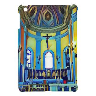 Pretty Yellow Blue Vibrant Church Altar iPad Mini Cases