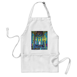 Pretty Yellow Blue Vibrant Church Altar Standard Apron
