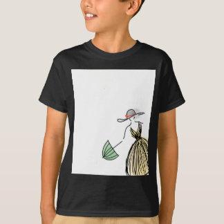 Pretty Yellow Fashionista - Hand Drawn Sketch T-Shirt