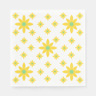 Pretty yellow floral napkins