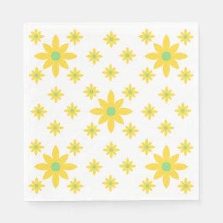 Pretty yellow floral napkins disposable napkin