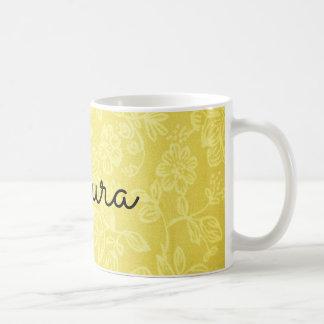 Pretty Yellow Floral Pattern Mug