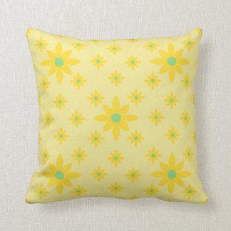 Pretty yellow floral sofa cushion