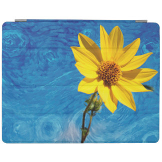 PRETTY YELLOW FLOWER IN A FIELD iPad COVER