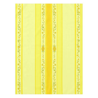 Pretty Yellow Flowers Centerpiece & Stripes Tablecloth