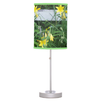 Pretty Yellow Flowers Table Lamp