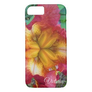 Pretty Yellow-Red Iris iPhone 8/7 Case