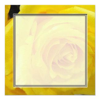Pretty yellow rose flower blank wedding, party, invitation