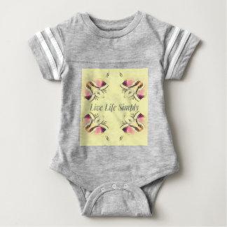 Pretty Yellow Rose Lifestyle Quote Baby Bodysuit
