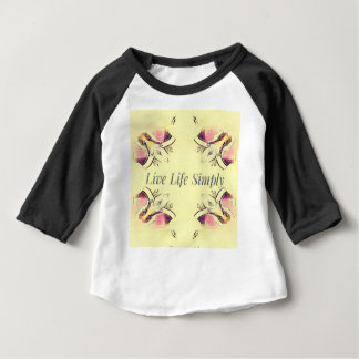 Pretty Yellow Rose Lifestyle Quote Baby T-Shirt