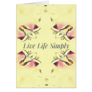 Pretty Yellow Rose Lifestyle Quote Card