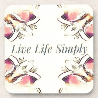 Pretty Yellow Rose Lifestyle Quote Coaster
