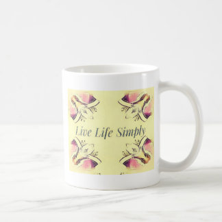 Pretty Yellow Rose Lifestyle Quote Coffee Mug