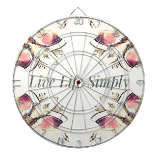 Pretty Yellow Rose Lifestyle Quote Dartboard