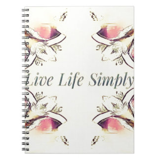 Pretty Yellow Rose Lifestyle Quote Notebooks