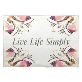 Pretty Yellow Rose Lifestyle Quote Placemat