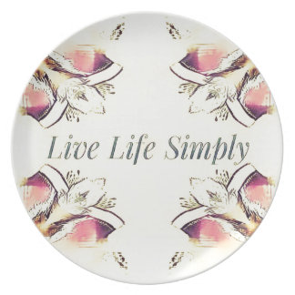 Pretty Yellow Rose Lifestyle Quote Plate
