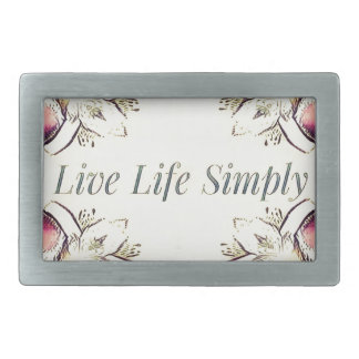 Pretty Yellow Rose Lifestyle Quote Rectangular Belt Buckle