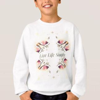 Pretty Yellow Rose Lifestyle Quote Sweatshirt