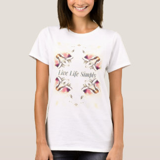 Pretty Yellow Rose Lifestyle Quote T-Shirt