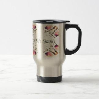 Pretty Yellow Rose Lifestyle Quote Travel Mug