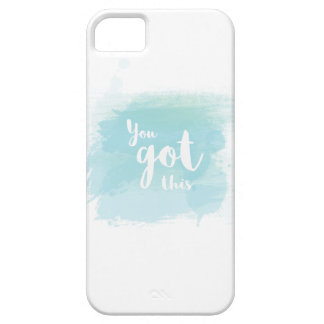 Pretty You got this blue calligraphy watercolor iPhone 5 Cases