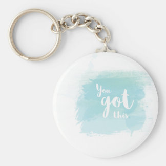 Pretty You got this blue calligraphy watercolor Keychain