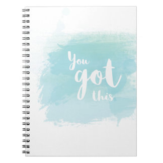 Pretty You got this blue calligraphy watercolor Notebook