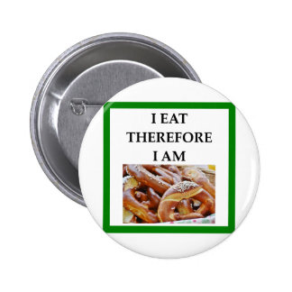 pretzel 2 inch round button