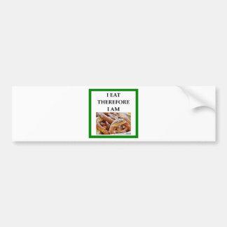 pretzel bumper sticker