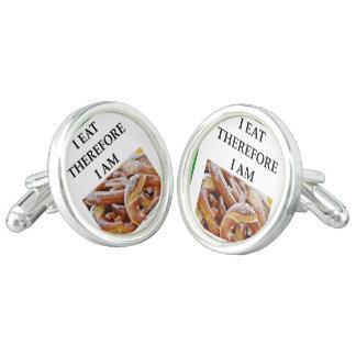 pretzel cuff links
