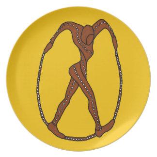 Pretzel Girl Plate