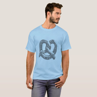 pretzel graphic shirt blue