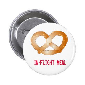 pretzel, In-Flight Meal 2 Inch Round Button