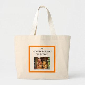 pretzel large tote bag
