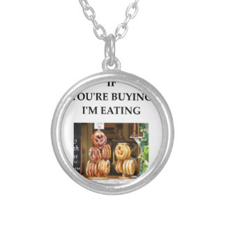 pretzel silver plated necklace