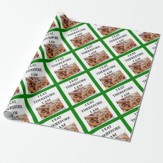 pretzel wrapping paper