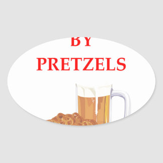 PRETZELS OVAL STICKER