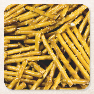 Pretzels Sticks Square Paper Coaster